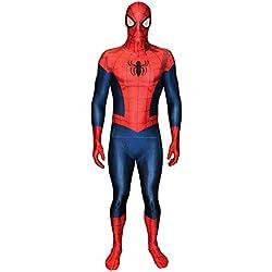 """Morphsuits 'Spider-Man' - Disfaz Oficial, color Azul/Rojo, talla L/5'4""""-5'10"""" (161-177 cm)"""