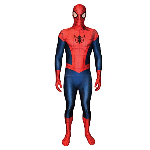 er Spiderman, Verkleidung, Kostüm - Large 5'3 - 5'9 (159cm - 175cm) (Spiderman Kostüm Bodysuit)