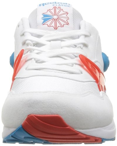 Reebok Pump Running Dual, Herren Sneaker Rot - Rouge (China Red/Blue Bomb/White)