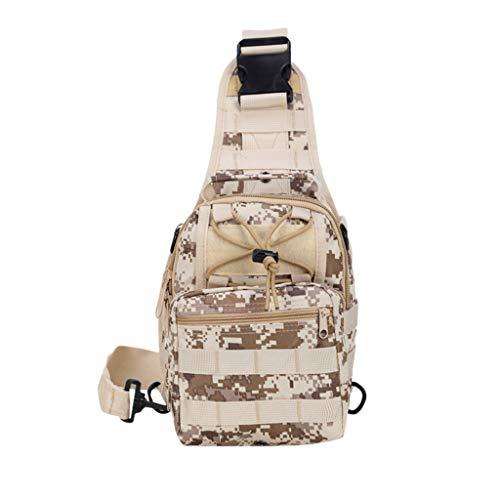 Yncc Outdoor Schulter Militär Camping Rucksack Wandern Trekking Bag Herrentaschen Im Freien Umhängetasche Casual Sport Camouflage Brusttasche (C) - Camouflage Nylon-schulter-bag