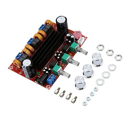 DERNON Verstärker Dual Chip TPA3116D2 2 x 50W + 100W 2.1 Path Digital Subwoofer rot -