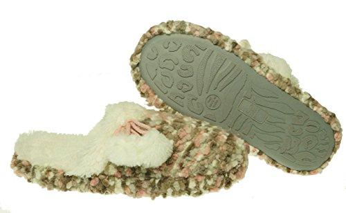 INC International Concepts Popcorn Knit Pantoufle Oatmeal