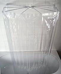 RIDDER 58200-350 Duschspinne, Duschfaltkabine, Ombrella mit Folienduschvorhang, Brillant transparent
