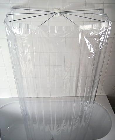 Ridder 58200-350 Duschspinne, Duschfaltkabine, Ombrella mit Folienduschvorhang, Brillant