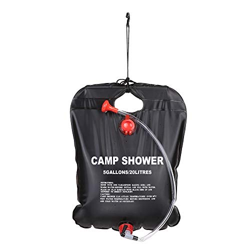 Yutongyi Tragbar 20L Camping Wandern Solar Beheizte Camp Duschtasche Außendusche Wasserbeutel Auslaufsicheres Wohnmobil -