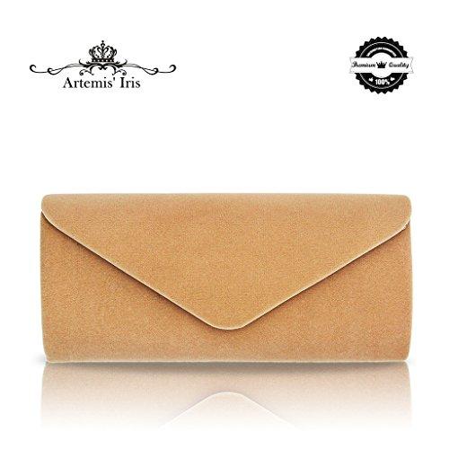 e Frauen Umschlag Tasche Clutch Geldbörse Handtasche für Party, Hochzeit, Geburtstag - Camel (Diamant-gewicht Papier)