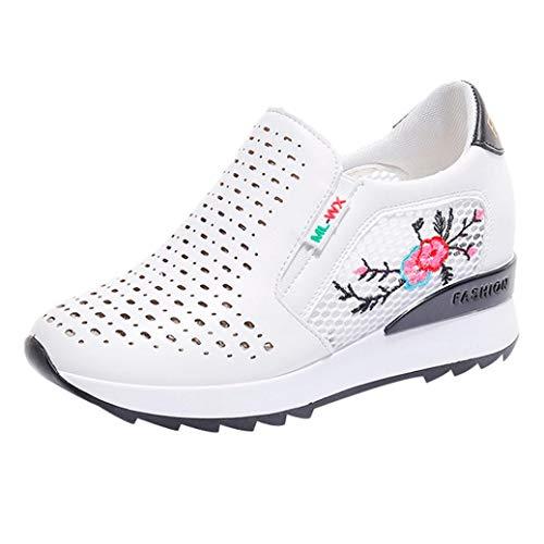 Dragon868 Scarpe Con Zeppa Interna Donna Scarpe Da Ginnastica Basse Sportive Fitness Sneakers Zeppa Interna 5Cm