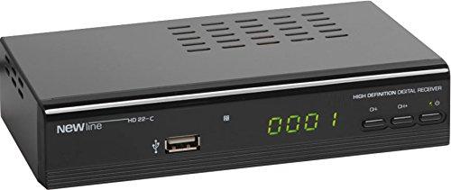 New Line 193001 HD22C Digitaler HD Kabelreceiver mit USB Anschluss