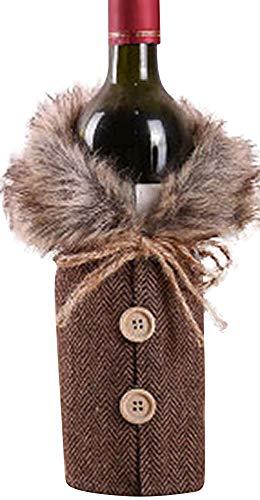 Zalock Weihnachtsdekorationen Creative Weinflasche Tasche Mode Weihnachten Wein Set Schön Dekoration für Festival Bankett Party Halloween Hotelrestaurant