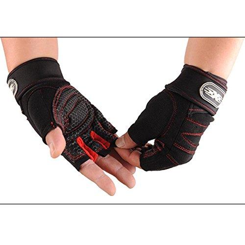 Übung Wraps (Tiptiper Gym Handschuhe für Powerlifting, atmungsaktiv Gewichtheben Gym Handschuhe Training Fitness Wrist Wrap Übung Sport (Größe M))