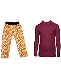 IndiStar Boys Combo Pack For Winter(Pack of 1 Printed Lower and 1 Wollen Full Sleeves T-Shirt/Inner/Skivvy )