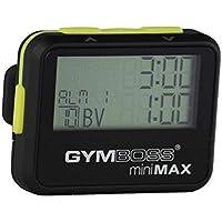Gymboss Minimax - Timer a intervalli con cronometro, rivestimento morbido, colore nero/giallo