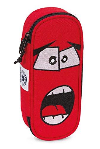 Bustina round invicta , lip pencil bag , face , rosso , scomparto attrezzato per penne
