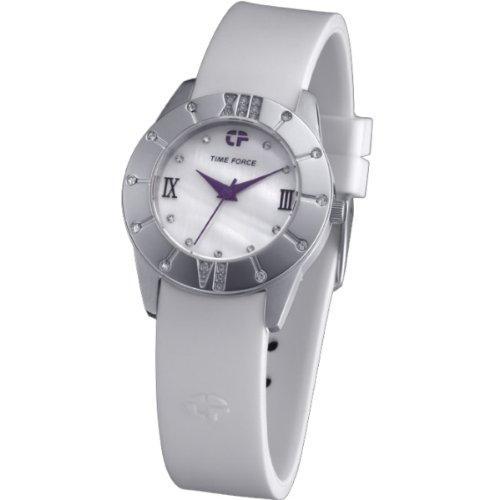 Time Force TF4065L08 - Reloj de pulsera para mujer, blanco