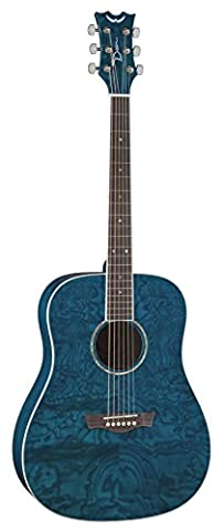 Dean Guitars AX DQA TBL AXS Serie Dreadnought-Korpus aus Wölkchen-Esche-akustische Gitarre Blau