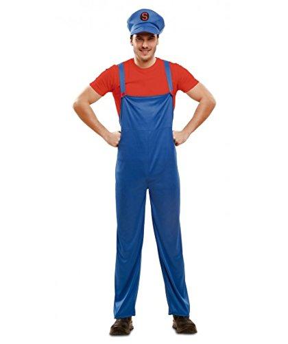 - Super Klempner, Erwachsenenkostüm, One-size, rot (Melisandre Kostüm)