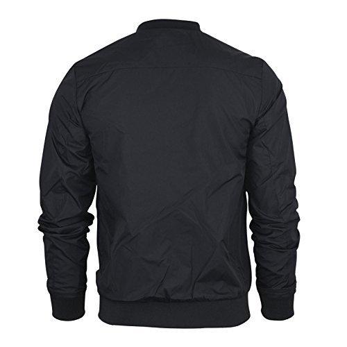 Mens Harrington Jacket Brave Soul MA1 Summer Lightweight Bomber Coat#Black~Large
