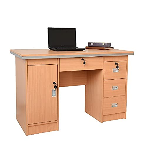 Tuff Concepts Modern Home Office Desk Corner Computer PC Table Worksation (120*60*75 cm, Beech)