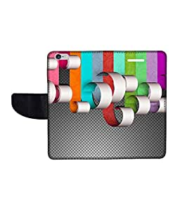 KolorEdge Printed Flip Cover For Apple IPhone 6 Multicolor -(47KeMLogo12355IPhone6)