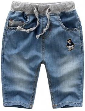 Los niños niño primavera verano Jeans pantalones Capri pantalones muy suave eyewearlt