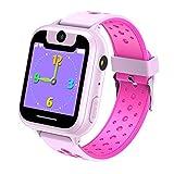 Vannico Enfants Smart Watch Téléphone, Smart Wrist Watch pour 3-12 Ans Garçons Filles avec Jeu Smartwatch Cadeau d'anniversaire Bracelet Smartwatch Jouets d'apprentissage(S6G-Rose)