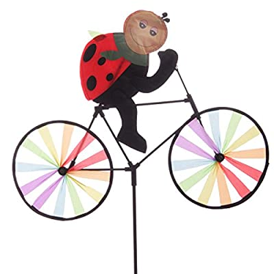 Funky Cute Lady Bug Riding Windmill Bike