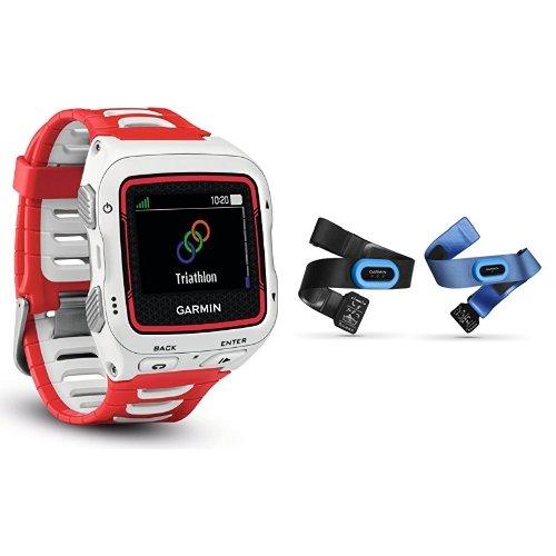 Garmin Forerunner 920XT GPS Triathlon Multisport, Bianco/Rosso + Fascia Cardio,