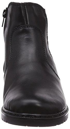 Rieker Z1962-01 Damen Halbschaft Stiefel Schwarz (schwarz/schwarz-silber / 01)