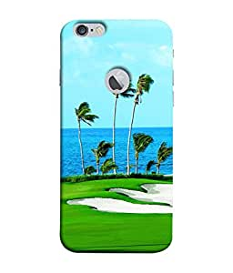 Fuson Designer Back Case Cover for Apple iPhone 6 (Logo View Window Case) (Sea Water Palm Golf Breeze Tree)