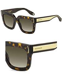 GIVENCHY Givenchy Damen Sonnenbrille » GV 7009/S«, schwarz, QON/CC - schwarz/braun