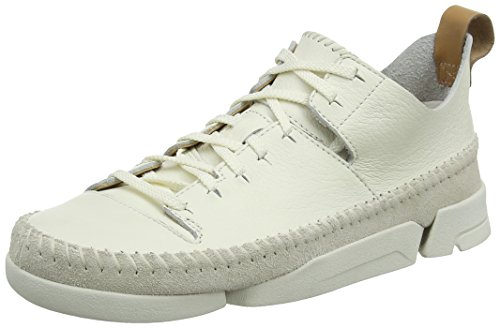 Clarks Trigenic Flex, Baskets Basses Femme, Blanc (White), 41.5 EU