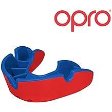 Protector Bucal Para Niños OPRO Self-Fit GEN 3 Junior Silver Para rugby, hockey, artes marciales mixtas - Garantía dental de hasta 7.500 € - Fabricado en Reino Unido (Rojo/Azul)