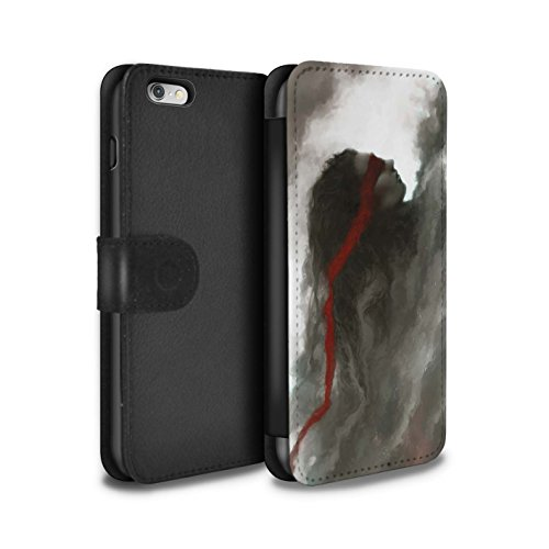 Offiziell Chris Cold PU-Leder Hülle/Case/Tasche/Cover für Apple iPhone 6+/Plus 5.5 / Hades/Phantom Muster / Unterwelt Kollektion Rotes Band-Engel