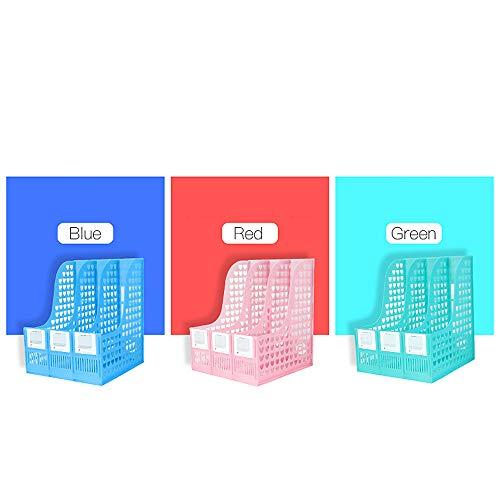 GaoJinZhuan Stativ-Datei-Halter Büroartikel Desktop-Datei Bar Großhandel Verdickung Daten Management Rack (Farbe : Green)