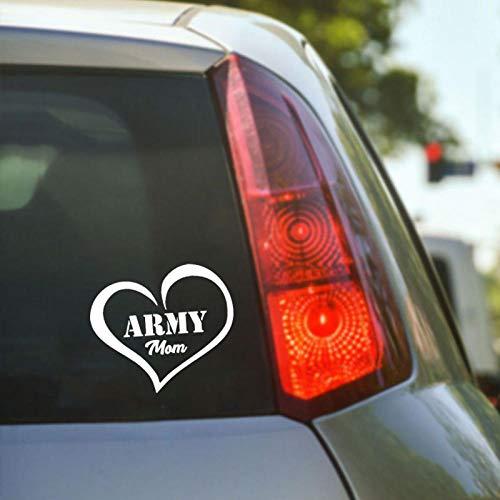 Adesivi per auto cuore creativo dell'esercito, per auto fai da te Styling prodotti auto divertenti, per adesivo per vinile per casco per auto e moto, decalcomanie per vetri auto 13X15 cm