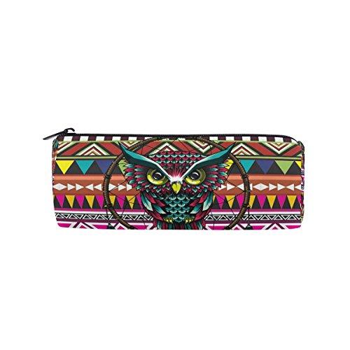 Ahomy - Estuches de lona con diseño de búho marroquí atrapasueños, con cremallera, para adolescentes, niñas y niños, bolsa de maquillaje de viaje para mujeres
