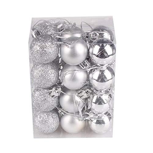 YearningH Christmas balls Weihnachten Weihnachtsbaum Ball Hänge Zuhause-Party-Weihnachtsbaumkugel dekoriert, Silber (Ornamente Klare Glaskugel Kleine)
