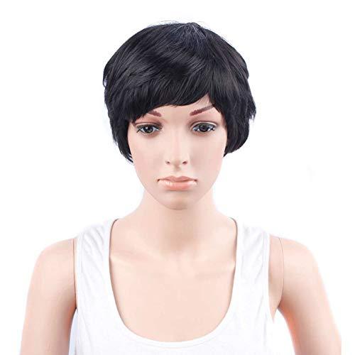 Perücke Frauen Damen Haar Wigs Blond Cosplay Party Kostüm Perücken Brasilianische Voll Bob Wave Natürliche,Black,12inches