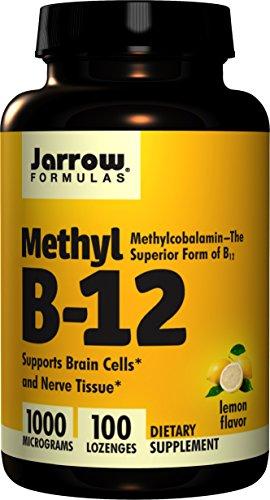 Jarrow Methylcobalamin B12, 1000mcg, 100 Pastilles Vegan à saveur de citron (1000mcg, 100 Pastilles Vegan à saveur de citron)