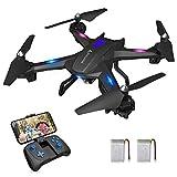 SNAPTAIN S5C Drone avec Caméra HD 720P WiFi FPV Transmission RC Helicoptère Télécommandé avec les Fonction Mode sans Tête, Maintien d'altitude, Retour à une Touche, Vol de Trajectoire, 360°Flips pour les Débutants et les Enfants