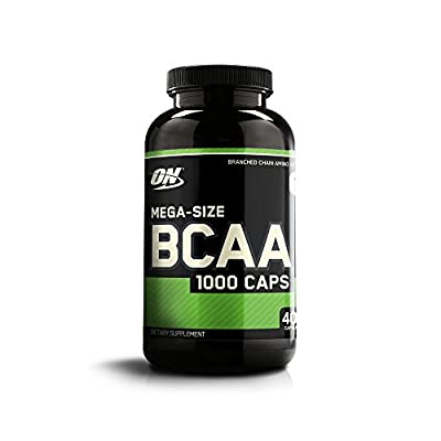 Optimum Nutrition BCAA 1000 Branch Chain Amino Acids with L-Leucine, L-Isoleucine and L-Valine. BCAA supplement by ON - Unflavoured, 200 Servings, 400 Capsules by OPTIG