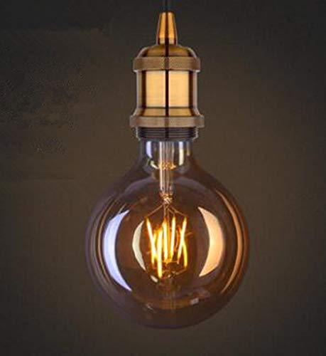 LED-Edison-Glühbirne, Retro-Nostalgie, E27, große Schraube, warmes gelbes Licht, Wolfram-Filament, Drachen-Ball, kreativ, Warm Yellow, 2W, E27