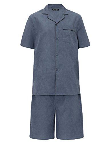 Uomo estate set pigiama top a maniche corte & shorts - grigio, large