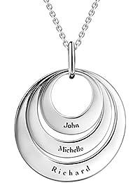 SOUFEEL Namenskette Persönalisierte Namen Halskette 925 Sterling Silber (Keine Interpunktion und Symbole)