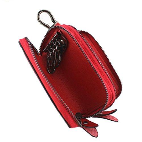 Kreuzmuster Schlüsselkasten Multi-Doppel Reißverschluss Handtasche Handmulticolor White