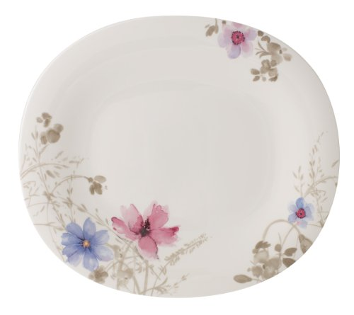 V&B Mariefleur Basic Gourmetteller oval 32x28cm (1041042761) NEu