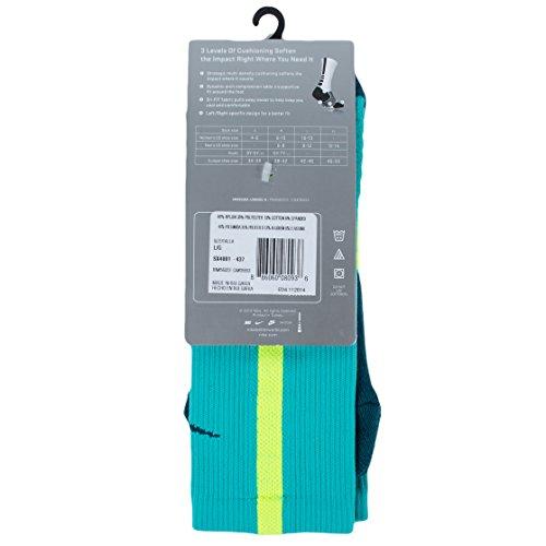 Nike crew chaussettes hyperelite de basket Multicolore - Lt Retro/Volt/Teal