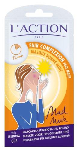 L'Action Paris Bonne Mine Masque Visage   Masque pour un teint sain   Visage Hydratant - Lot de 3