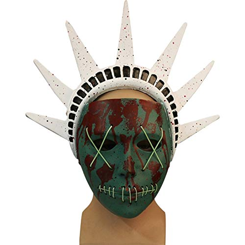 QQWE Human Clearance Plan Göttin Maske Helm Kopf Cosplay Masken Halloween Weihnachten Horror Grimasse Zeigen Kostüm Requisiten,A-OneSize
