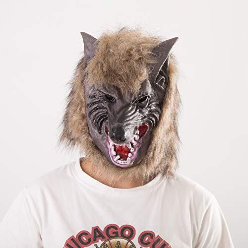 Kostüm Kind Deluxe Werwolf - YWJ Deluxe Neuheit Halloween Kostüm Party Latex Tierkopf Maske Wolfskopf